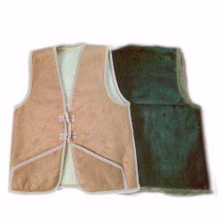 Weste aus Wolle und Leder