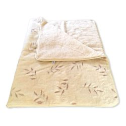 Sleepy-Olivo gemusterte Decke aus 100% Lammwolle