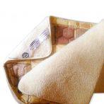 Sleepy-Gyapjú/vászon takaró, barna és virágos színben
