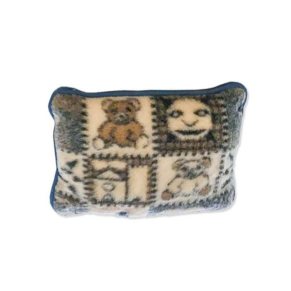 Sleepy-Kinderkissen mit Teddybärmuster 100% Lammwolle 40x50cm