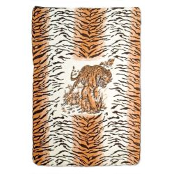 Tiger Muster Lamm Wolldecke 140x200cm