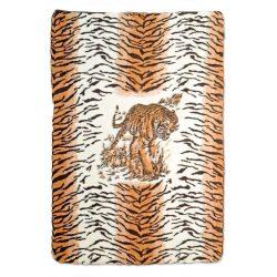 Mintás - Tigrises Bárány Gyapjú Takaró 140x200cm