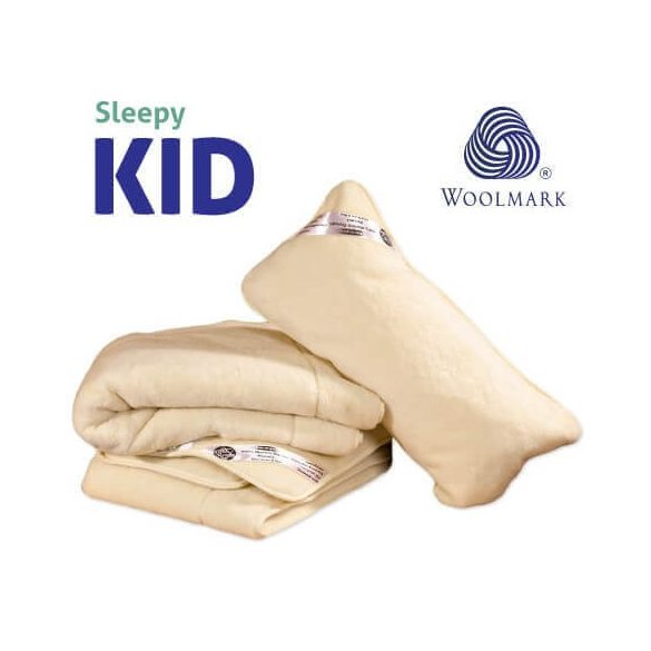 Sleepy-KIDS Kinder Kaschmir Set 100% Wolle 650gr / m2