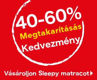 40.60% kedvezmény matracokra