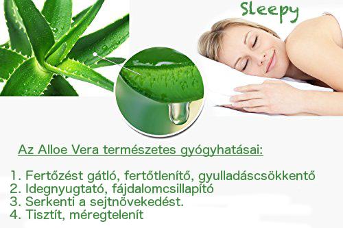 A legjobb védelem érdekében a Sleepy-Memory Aloe Vera matrac huzatának  anyagát Aloe Vera géllel átitatott textilszálakkaldúsították 7c3c422d16